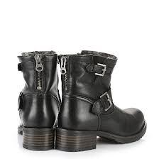 black biker boots lined buffalo biker boots in black buy online in buffalo online shop