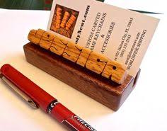 Desk Name Plates With Business Card Holder Desk Name Plate Business Card Holder Paduak Wood On Cherry