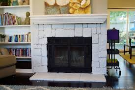 ashley u0027s green life how to whitewash fireplace stone