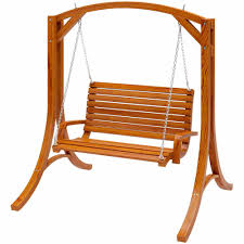 Walmart Com Patio Furniture - corliving wood canyon cinnamon brown stained patio swing walmart com