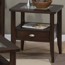 square glass end table jofran montego merlot square end table with glass top jofran