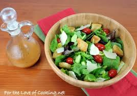 mixed green salad with an italian vinaigrette for the love of