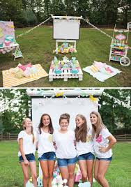 backyard birthday party ideas for teens trendy outdoor movie night