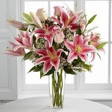 stargazer bouquet mix of roses and stargazer lilies bouquet plant cut flowers