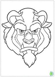 beauty beast enchanted rose coloring book printable