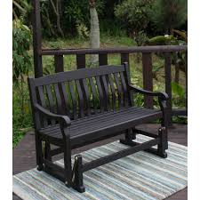 Garden Rocking Bench Better Homes And Gardens Delahey Outdoor Glider Bench Brown