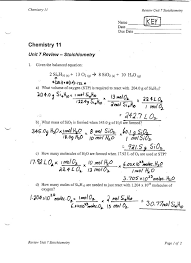 Stoichiometry Practice Worksheet Answer Key Archives Ms S Classes
