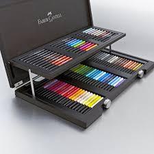 faber castell pitt artist pen wooden gift box set of 90 brush