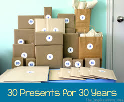 gift ideas for someone turning 60 30th birthday gift idea 30 presents for 30 years 30 birthday