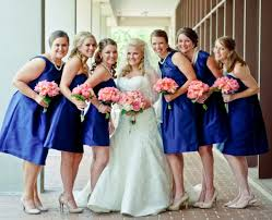 classic southern wedding ideas navy blue bridesmaids peonies