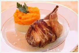 cuisiner caille cailles farcies aux pommes et au foie gras duo de purées panais