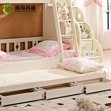 3 Level Bunk Bed 3 Level Kids Wooden Mdf Pull Out Bunk Bed Furniture With Drawer
