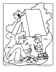 camp activities camping coloring pages