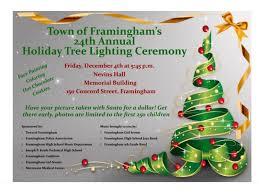 framingham s 24th annual tree lighting set for december 4