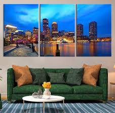 amazon com boston sunset skyline in massachusetts large canvas amazon com boston sunset skyline in massachusetts large canvas print boston city cityscape large canvas print wall art boston 20x30 inch each panel