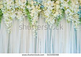 wedding backdrop wedding backdrop flower decoration stock photo 361318943