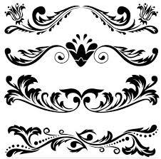 ornamental floral dividers 5 ai format free vector