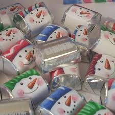 darling snowmen printable wrappers for hershey nuggets and