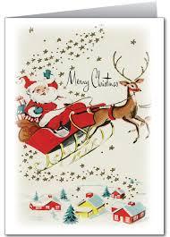 retro vintage santa christmas card 36532 custom invitations