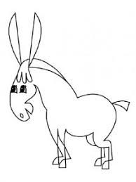 donkey coloring pages kids preschool kindergarten