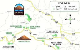 printable driving directions road maps of costa rica