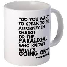 cafepress paralegal in charge text bla mug unique coffee mug