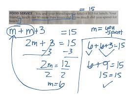 writing two step equations two step equations word problems pre algebra showme