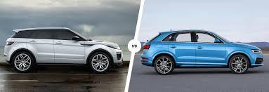 range rover light blue range rover evoque vs audi q3 stylish suv battle carwow