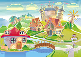 fairytale land and castle wallpaper wall mural wallsauce usa fairytale land and castle wall mural photo wallpaper