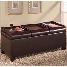 Ottoman Used As Coffee Table Leather Ottoman Coffee Table Visualizeus
