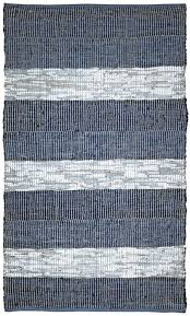 striped leather chindi rug from matador by st croix plushrugs com