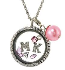 floating locket necklace images 7030059a mk floating charm necklace with clear rhinestones the jpg