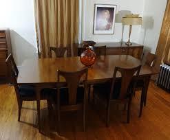 mid century modern broyhill emphasis dining table vintage retro