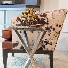 image of petrified wood end table side table diy wood slab side