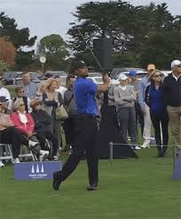 tiger woods gave a clinic one day after withdrawing from