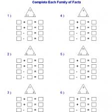 worksheet subtraction math facts worksheets and 2nd grade math