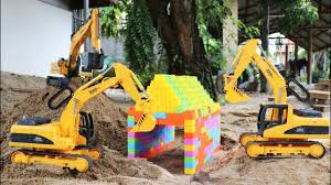 car toy videos for children u2013 excavator truck lorry toys for