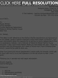 ideas collection fashion stylist cover letter sample about example