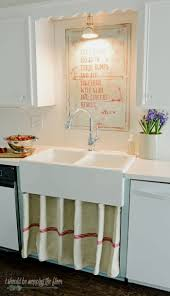 i should be mopping the floor farmhouse sink and diy kitchen art