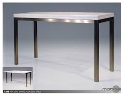 alure din table sofa table high gloss in white brushed