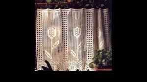 Crochet Curtain Designs Crochet Curtains Tutorial Youtube