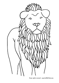 lion coloring page png