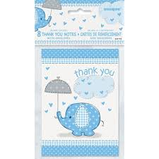 thank you baby shower blue elephant baby shower thank you notes 8pk walmart