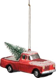 ornament truck with a tree ornament
