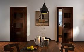 porte interieur en bois massif porte d u0027intérieur en bois avec insert brillant montpellier