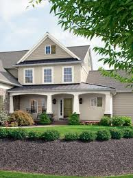 grey house exterior with white trim gray black shutters sherwin