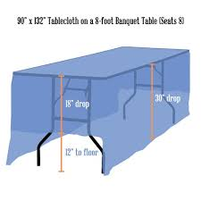 what size tablecloth for 8 foot table tablecloth rentals linen sizing chart