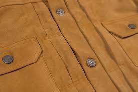 Split Cowhide Sugar Cane Type Ii Lined Jacket Top Split Cowhide