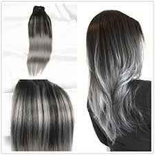 silver hair extensions stella reina silver balayage clip in hair extensions