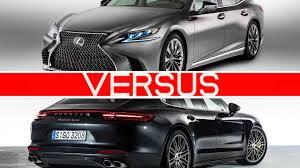 lexus ls vs genesis g90 2018 lexus ls vs porsche panamera youtube